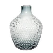 Hübsch Glasvase Ø22xH29 cm (Blå)