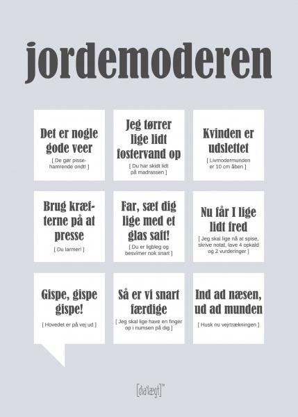Image of   Dialægt Jordemoderen, A3 el. 50x70 cm 50x70 cm