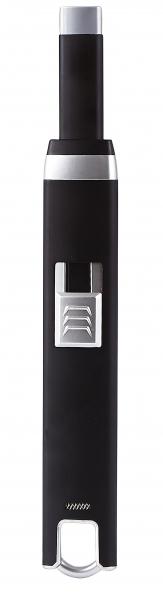 Image of   Villa Collection El Lighter til USB, Stål PP, Sort/Sølv