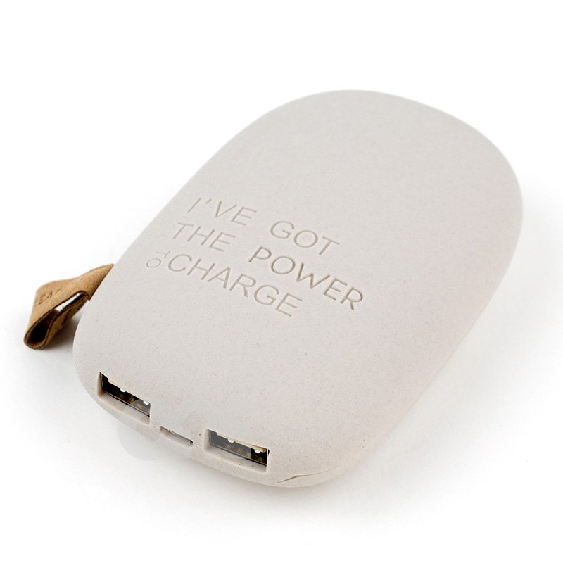 Image of   Kreafunk toCHARGE Powerbank (Lysegrå)