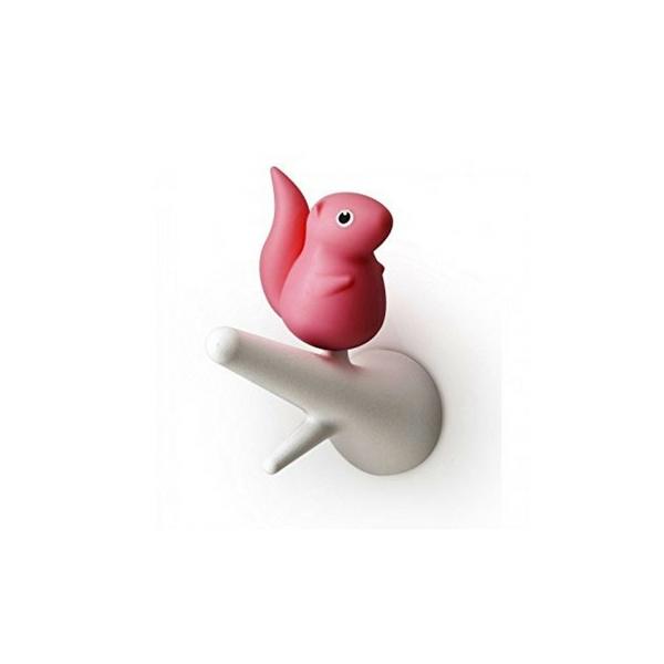 Qualy Egern Knager - sæt á 2 (Hvid/pink)