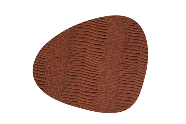Image of   LIND DNA Dækkeserviet Curve 37x44 cm, Croco læder. 3 farver Cognac