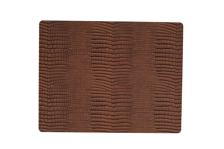 Image of   LIND DNA Dækkeserviet Square 35x45 cm, CROCO læder. 3 farver Cognac