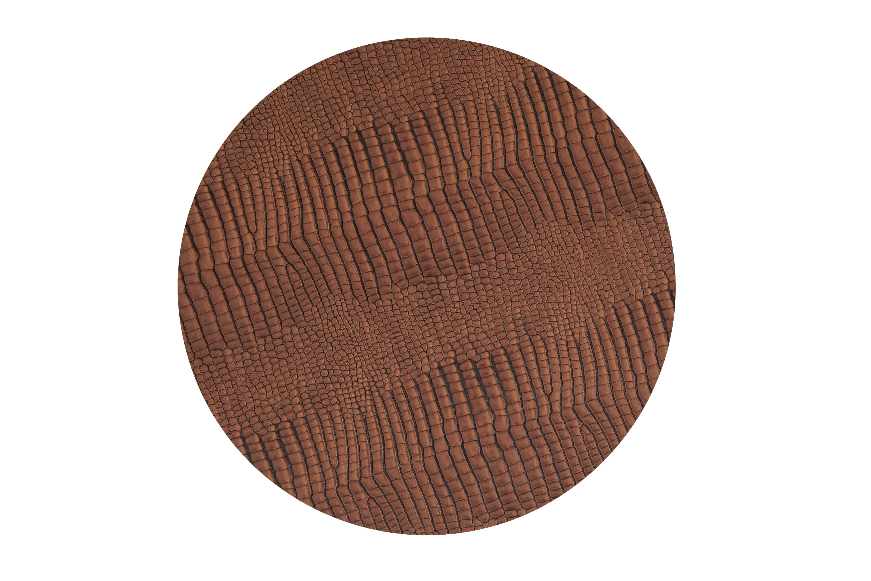Image of   LIND DNA Dækkeserviet Circle D: 40 cm, CROCO læder. 3 farver Cognac