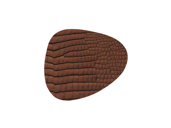Image of   LIND DNA Glass Mat Curve, Square el. Circle. CROCO. 3 farver Cognac Curve 11x13 cm