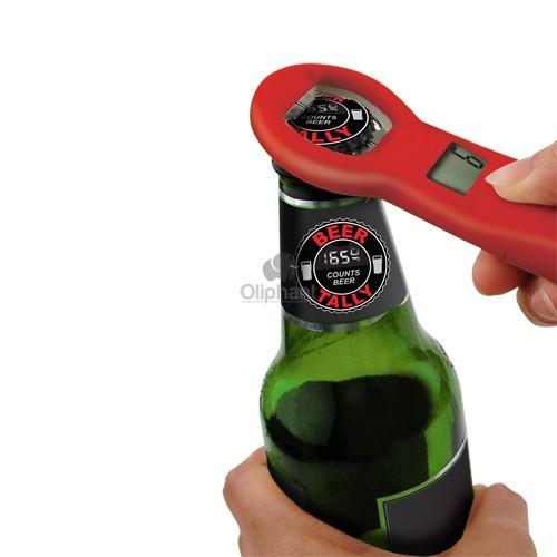 Image of   Mande-oplukker m. øltæller, Beer Tally