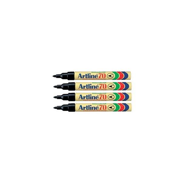 Artline Marker70 4-blister svart, 12 st
