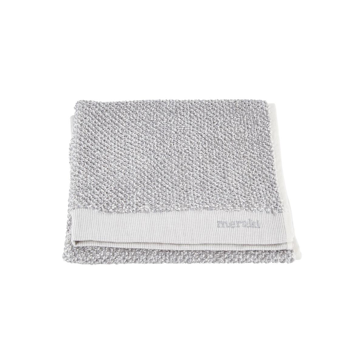 Image of   Meraki Håndklæde, hvid/grå, pakke m. 2 stk. 40 x 60 cm, 100% bomuld