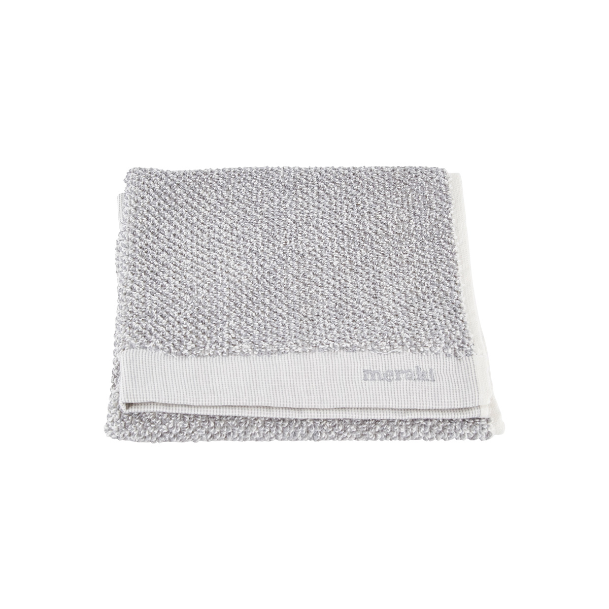 Meraki Håndklæde, hvid/grå, pakke m. 2 stk., 40 x 60 cm, 100% bomuld