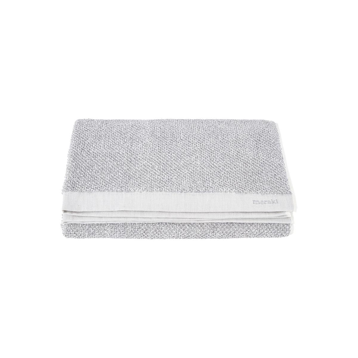 Image of   Meraki Håndklæde, hvid/grå, pakke m. 1 stk. 70x140 cm, 100%