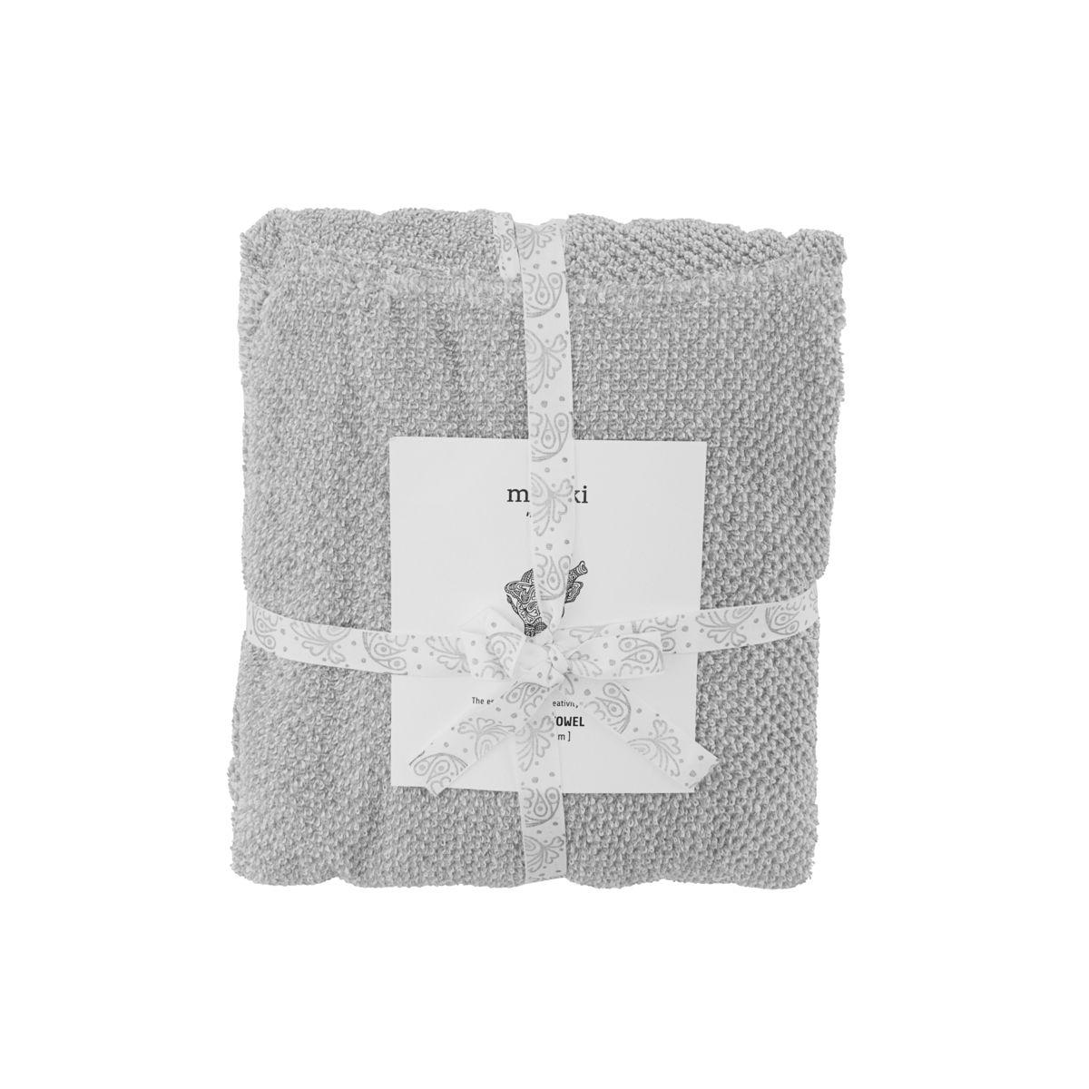 Image of   Poncho håndklæde, Meraki mini, Grå, 100% økologisk bomuld, l: 60 cm, b: 60 cm