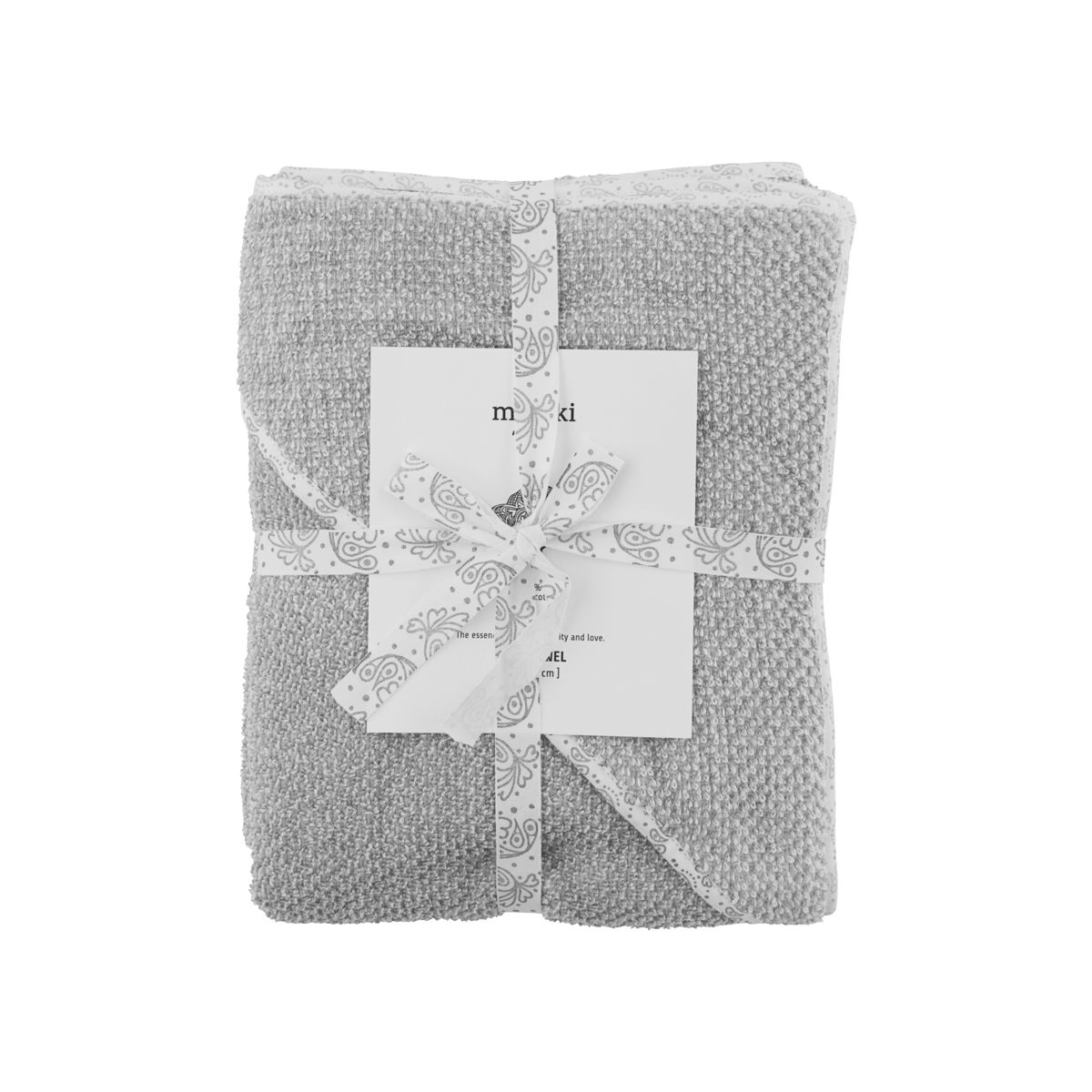 Image of   Baby håndklæde, Meraki mini, Grå, 100% økologisk bomuld, l: 80 cm, b: 80 cm