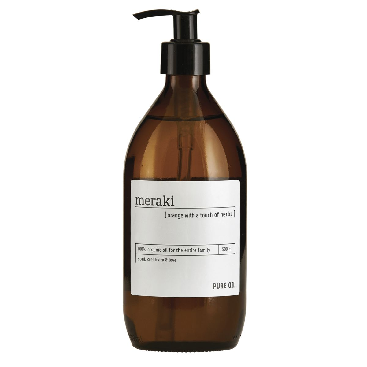 Image of   Meraki Pure oil, Orange og Geranium, 500 ml.