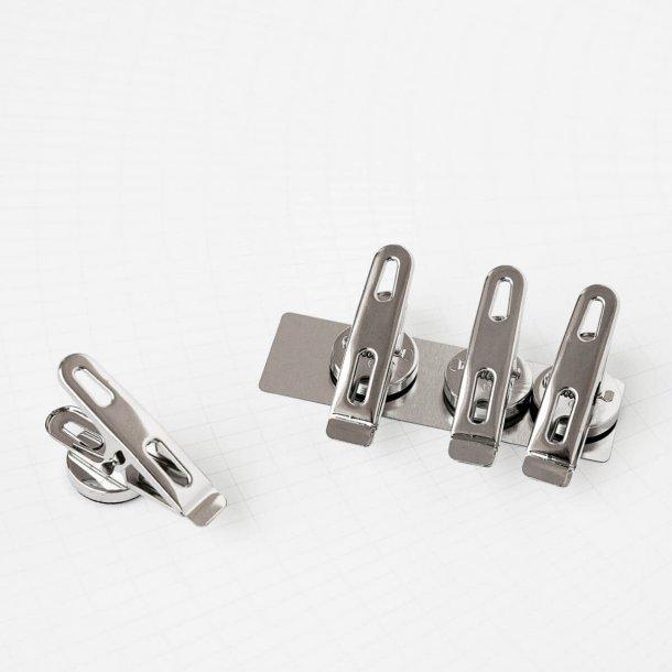 Monograph Clips med magneter, sölv, 4 stycken.