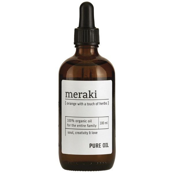 Image of   Meraki Pure oil, Orange og Geranium, 100 ml.
