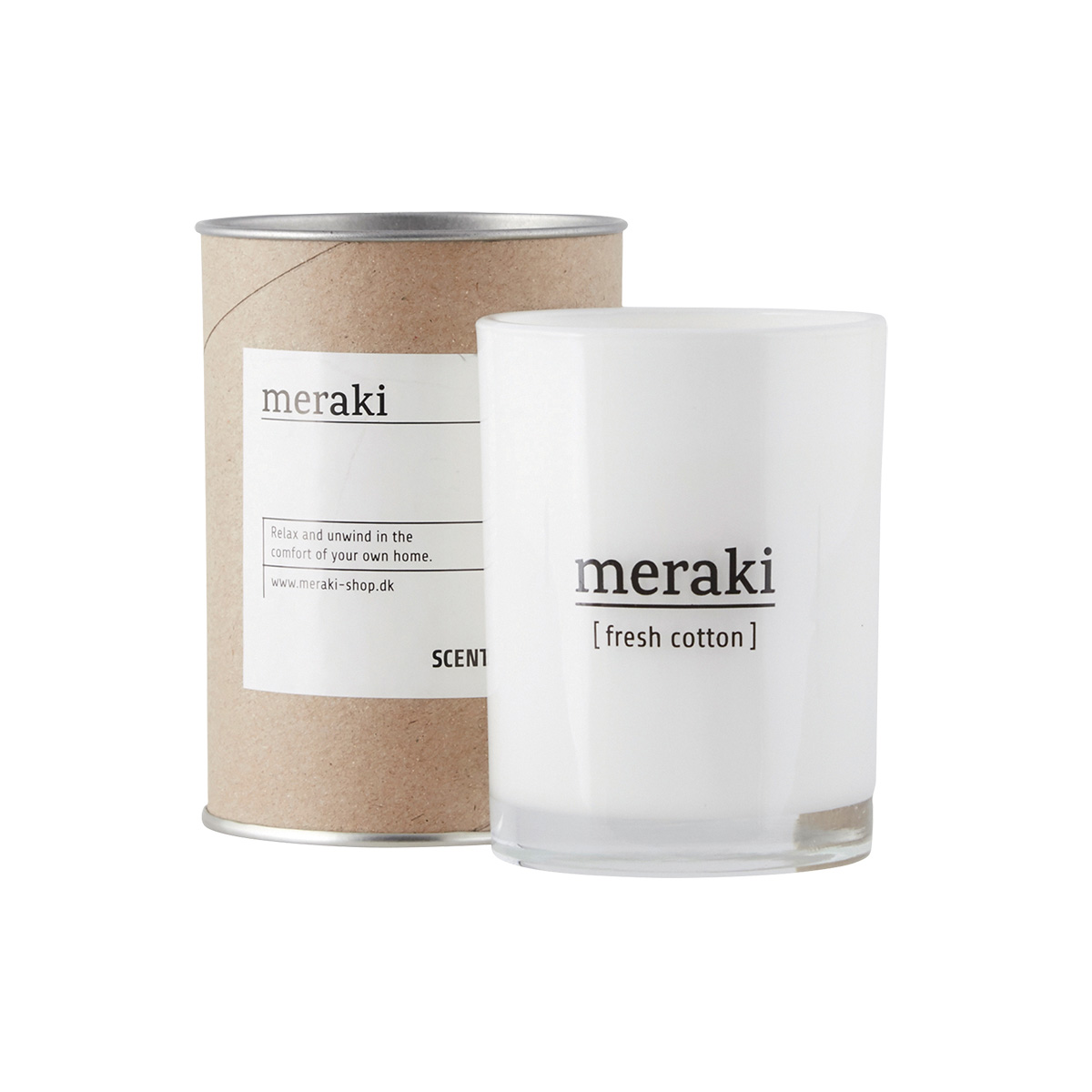 Image of   Meraki Duftlys, Fresh Cotton, dia.: 8 cm, h.: 10,5 cm