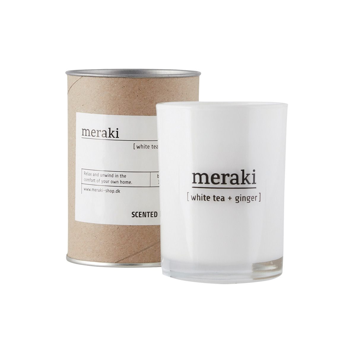 Image of   Meraki Duftlys, White tea & Ginger, dia.: 8 cm, h.: 10,5 cm