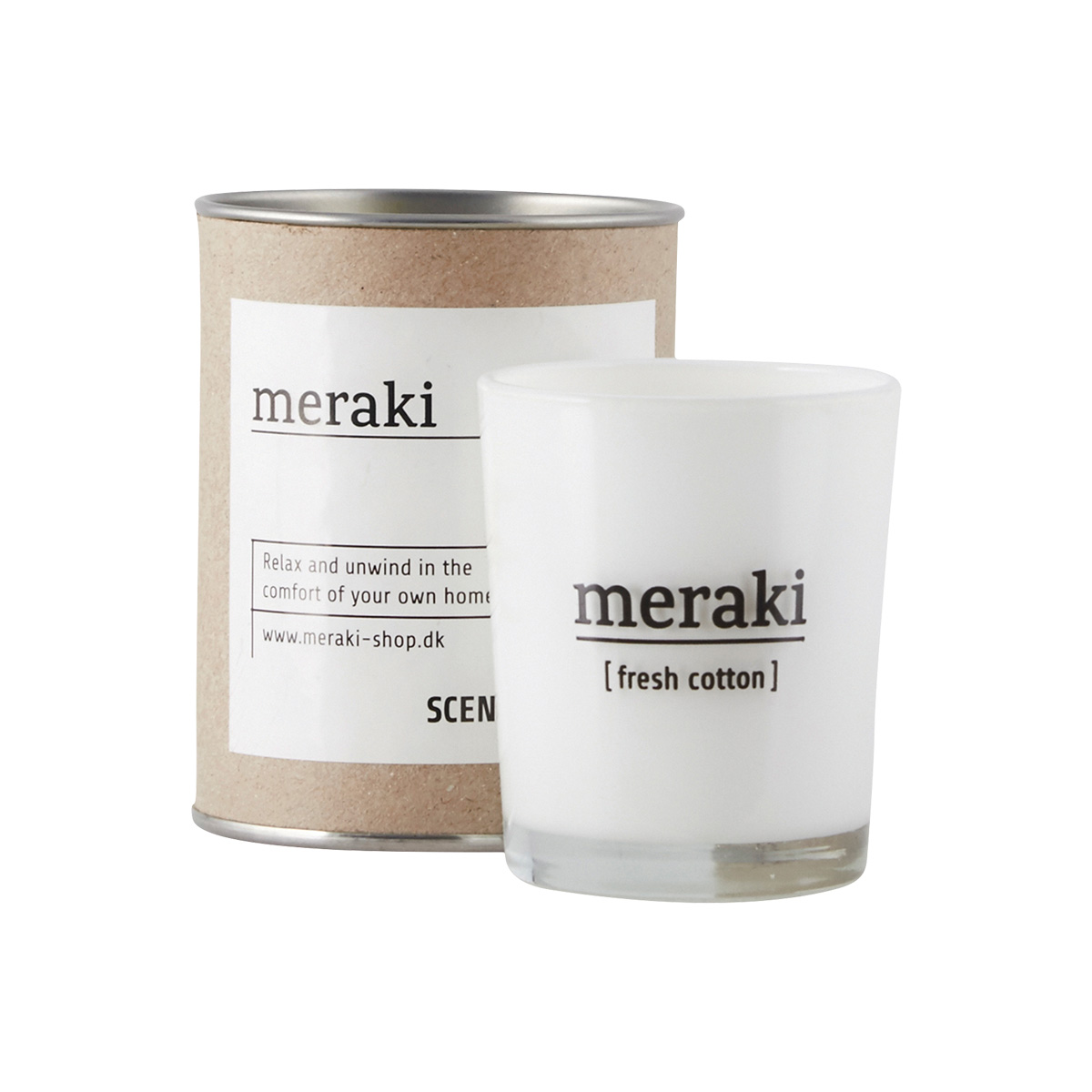 Image of   Meraki Duftlys, Fresh Cotton, dia.: 5,5 cm, h.: 6,7 cm