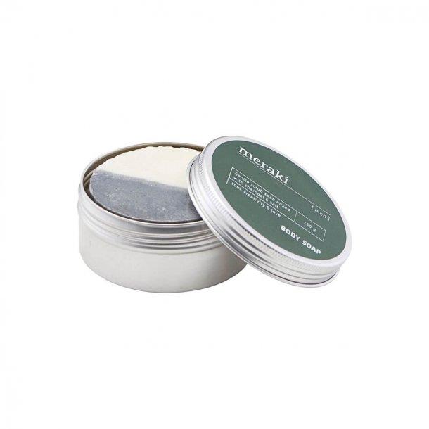 Meraki Body soap, Men, Charcoal & Salt, 150 g.