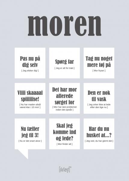 Image of   Dialægt Moren Plakat, A3 el. 50x70 cm 50x70 cm