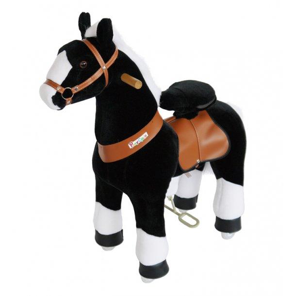 PonyCycle® Sort Hest med hvidt hoved, lille
