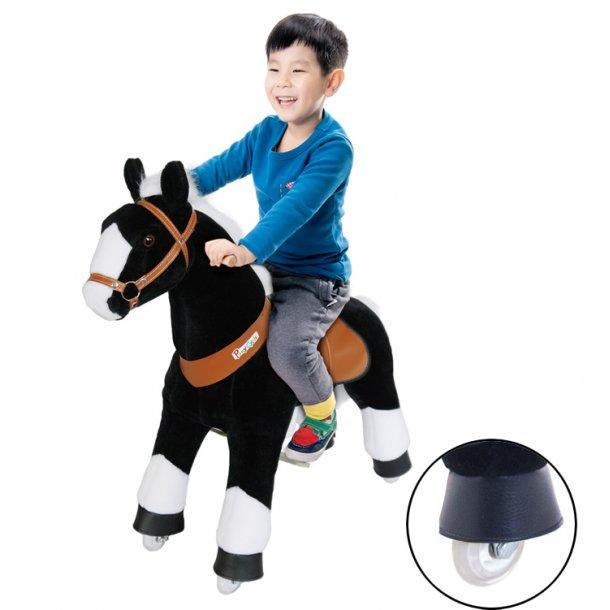 PonyCycle® Sort Hest med hvidt hoved