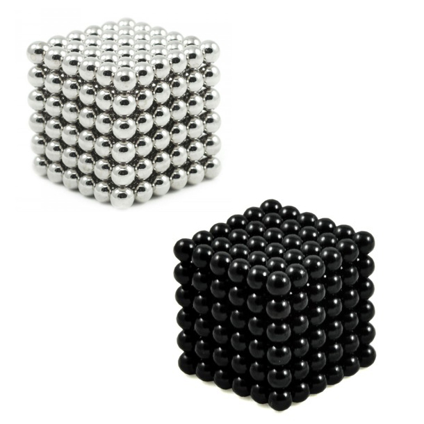 Image of   Neocube magnetic balls, Sampak sort/sølv