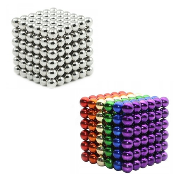 Neocube magnetic balls, Sampak sölv/rainbow