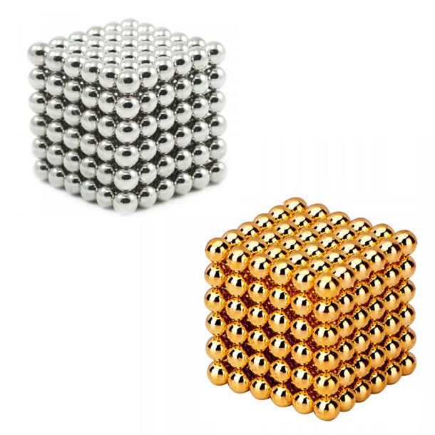 Image of   Neocube magnetic balls, Sampak sølv/guld