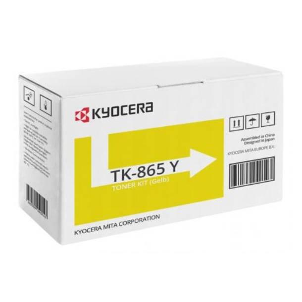 Kyocera TK-865 Y lasertoner – 1T02JZAEU0  – Gul 12000 sider