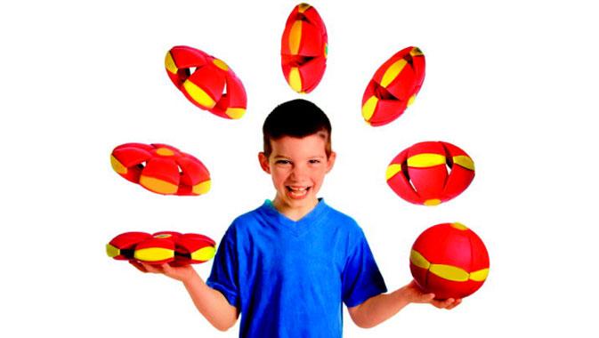 Phlat ball, flyvende tallerken med LED-lys,