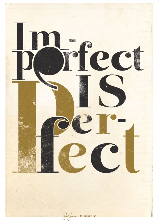 Image of Base212 I Am Perfect (Plakat A2)