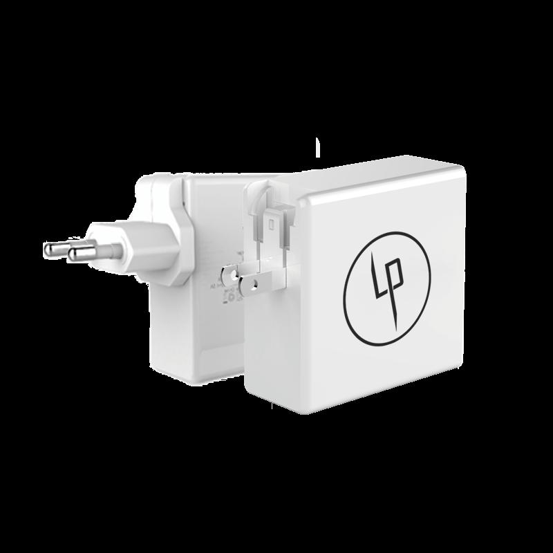 LIFEPOWR 65W USB-C och quick charge 3.0 väggladdare