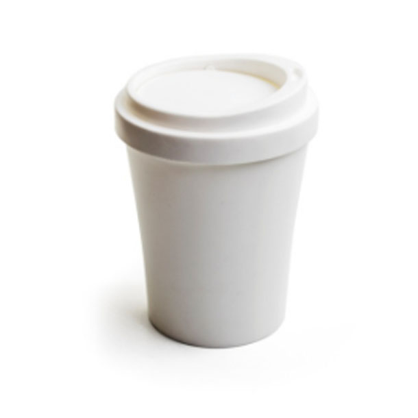 Image of   Qualy Coffee to go skraldespand, hvid