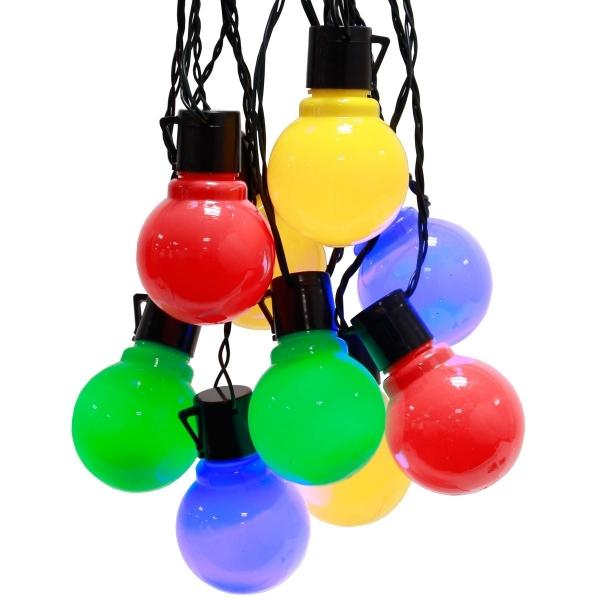 Image of   Party lights, LED-lyskæde, 20 forskelligfarvede pærer, 100led