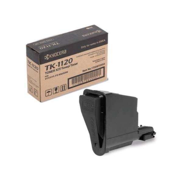 Kyocera TK1120 BK lasertoner – 1T02M70NX0  – Sort 3000 sider