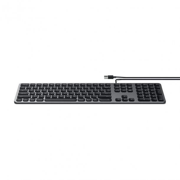 Satechi tastatur med USB tilslutning - Nordisk Layout, Space Grey