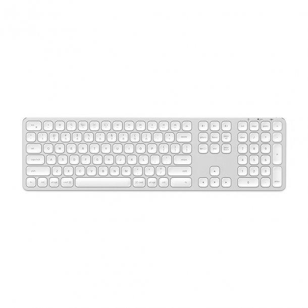 Satechi Trådlöst tangentbord för upp till 3 enheter - Nordisk Layout, Silver