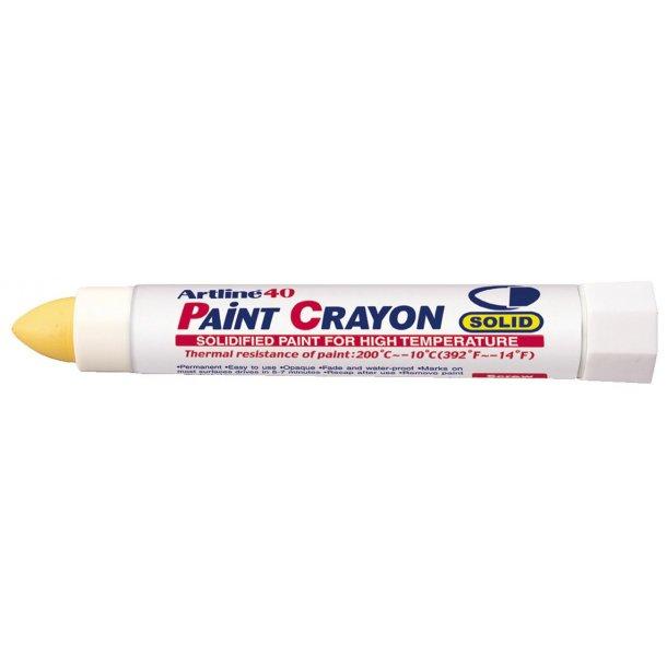 Artline 40 Paint Crayon High temp gul, 12 st